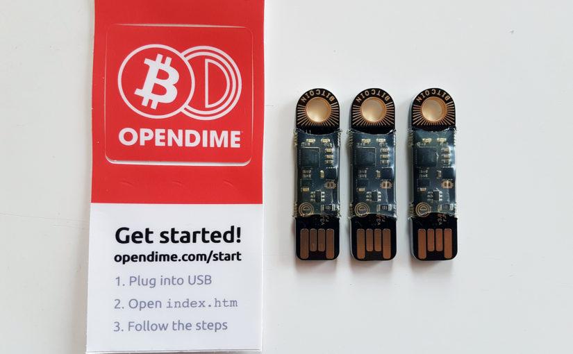 Ierīce, kas kabatā ļauj uzglabāt kaut 1'000'000 EUR – OpenDime apskats